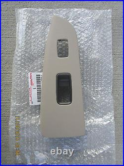 03 09 Lexus Gx470 Passenger Side Power Window Switch Bezel Trim Tan Oem New