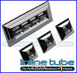 1971-1977 GM Chevrolet Door Electric Power Window Switch Complete Set OE Chrome