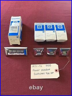 1971-72 NOS GM Oldsmobile Cutlass, 442, W-30, Hurst/Olds Power Window Switches