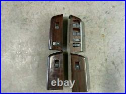 2008-2010 FORD F250 F350 Lariat Wood Grain Power Window Switches full set