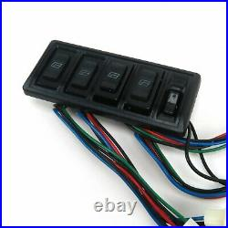4-Door Power Window Motor & Switch Kit with 6 Switches for GM 4 Doors 12V