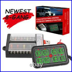 6/8Gang Switch Panel Relay Automatic Dimmable Circuit Control Box Car Marine 12V