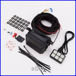 6 Gang Switch Panel Relay Control box +Wiring Harness for Auto Car 12V DC Power
