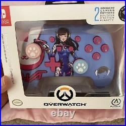 D. Va Nintendo Switch Dva Power A Enhanced Wireless Controller Overwatch Rare