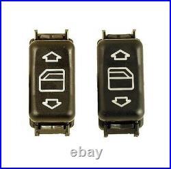 For Mercedes W124 W126 Console Power Window Switch 1248204510+1248204610 Set