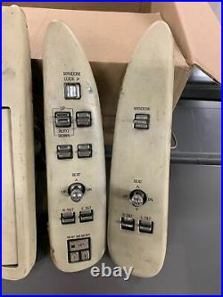 Full Set 95-97 Lincoln Town Car Master Power Window Seat Control Switch Beige