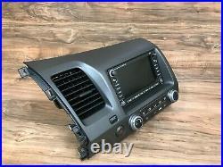 Honda CIVIC Oem Front Navigation Radio XM Map Gps Nav Headunit Display 06-11