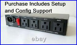 Internet Enabled Web IP Network Remote Control Switch Reboot AC Power Outlet PDU