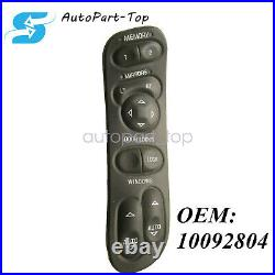 Left Hand Power Window Switch With Memory Option For 97-04 Chevrolet C5 Corvette