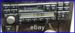 MERCEDES BENZ 92-99 C140 CL500 W140 S500 CASSETTE RADIO STEREO B5 WithCode B5