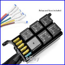 New 6 Gang Switch Panel Electronic Relay System Circuit Control Box 12V DC power