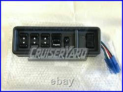 New OEM Toyota Land Cruiser FJ62 Master Power Window and Lock Switch, Gray