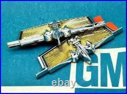 Nos 77 80 90 Chevy Caprice Classic Crest Sail Panel Roof Emblem Set Estate Wagon