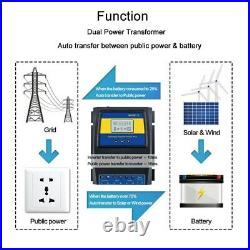 On/Off Grid Automatic Dual Power Transfer Switch Solar Wind Charger Controller