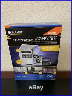 Reliance Controls 3006HDK 6-circuit Generator Power Transfer Switch Brand New