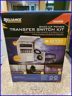 Reliance Controls 3006HDK 6-circuit Generator Power Transfer Switch Kit NEW