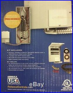 Reliance Controls 3006HDK Back-Up Power 6-Circuit Transfer Switch Kit NEW