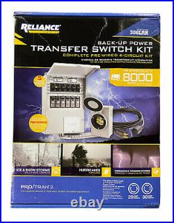 Reliance Controls 6-Circuit Backup Power Transfer Switch Kit 306LRK NEW