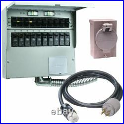 Reliance Controls Pro/Tran 2 50-Amp Power Transfer Switch System 10' with St
