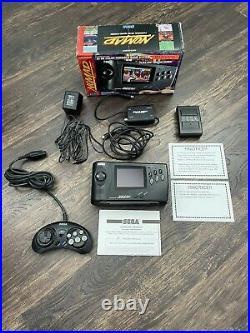 Sega Nomad CIB Power Supply Battery Pack Sega Brand Controller & RF Switch Ex