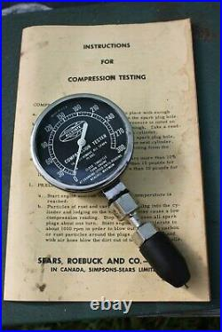 Vintage 50 60s sears Engine tune Timing tester auto service street antique cac