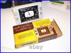 Vintage nos 60s Airguide Auto Visor Thermometer meter service gm street rat rod
