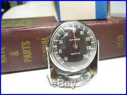 Vintage nos Dash Thermometer gauge chrome auto accessory gm street hot rod part